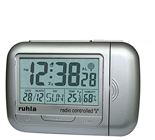 Garde' Uhren aus Ruhla digitaler Funkwecker mit Projektion RC22-1