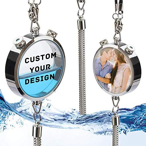 Ambientador de Aire de Coche Personalizado con Foto / Texto, Colgante de Perfume de espejo retrovisor Personalizado para Coche