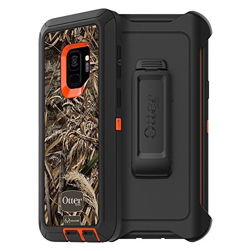 OtterBox DEFENDER SERIES Case for Samsung Galaxy S9 - Retail Packaging - MAX 5 BLAZE (BLAZE ORANGE/BLACK/MAX 5)