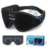 Sleep Mask Bluetooth Eye Mask with White Noise, Bluetooth 5.0 Music Sleep Headphone 3D Eye Mask for Men & Women with Microphone 10 White Noise Sounds 10 Hours Play Time to Get Sound Sleep(Small)