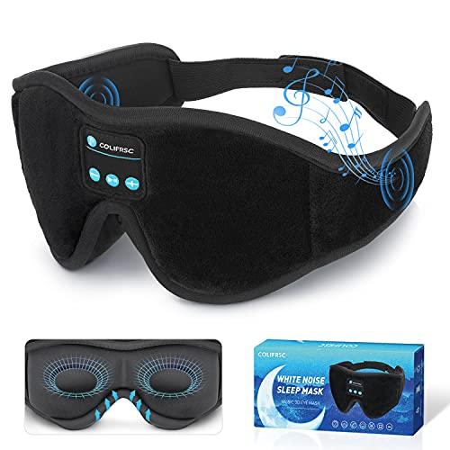 Sleep Mask Bluetooth Eye Mask with White Noise, Bluetooth 5.0 Music Sleep Headphone 3D Eye Mask for...