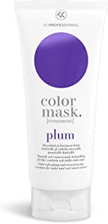 Color Mask Plum Reconstructive Treatment - Plum Purple Color Maintaining Conditioner for Violet and Reddish Violet Hair, Conditioner for Plum Hair, 6.76 oz - KC Professional