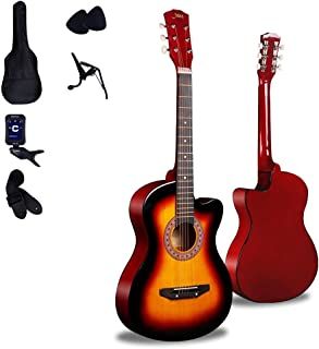 $163 » Loivrn 41-inch Nylon String Acoustic Guitar Classic Folk Acoustic Guitar Beginners Getting Started Guitar Classical Guitar 4/4 with Piano Bag Tuner String Guitar