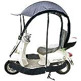 POOPFIY Universal Bicicleta eléctrica Completamente Cerrado Parasol Cubierta de la Lluvia, Paraguas Plegable Impermeable
