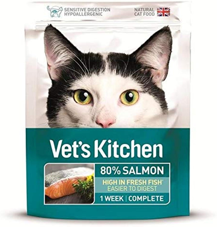 6X Vet's Kitchen Ultra Fresh Cat Food Salmon 385g