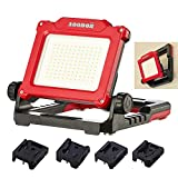 Aoodor Cordless LED Work Light 3500 Lumen Compatible Multiple Brands Powered By DEWALT, MILWAUKEE, Black&Decker, Porter cable, STANLEY, BOSCH, Makita (Light Only)
