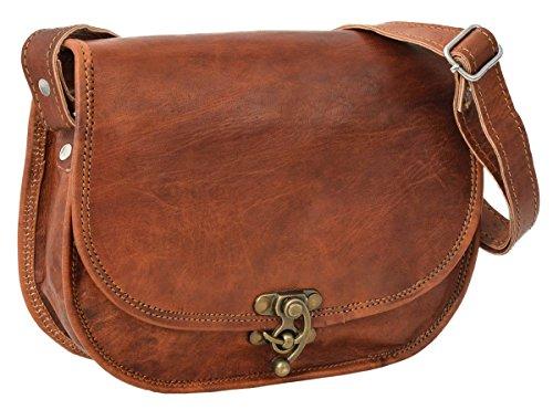 Gusti Kleine Leder - 'Edda' Handtasche Umhängetasche Vintage Braun Leder Damen Kleine Handtasche Umhängetasche Vintage Braun Leder Damen