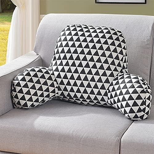 JUBANGLIAN Cojin De Asiento Lindo de Confort, Almohadillas de Soporte Lumbar de la Espalda del sofá Cojín del Respaldo de la Silla de la Oficina de la casa(50x35x20cm (20x14x8inch),B)