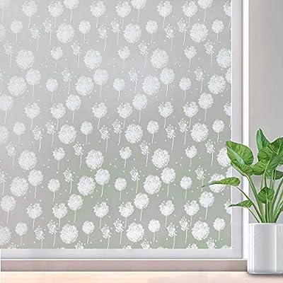 Viseeko Privacy Window Film Non-Adhesive Window...