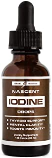 Nascent Iodine Supplement - Complete Thyroid Iodine Solution for Thyroid Support and Immunity Support. Iodine Drops That Provide Optimum Absorption and Thyroid Health with Increased Energy.