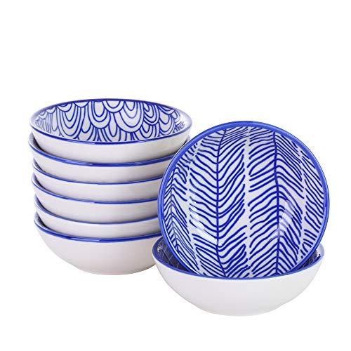 vancasso Takaki Dipschälchen aus Porzellan, 8-teilig Snackschalen Set, Saucenschälchen