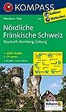 Nördliche Fränkische Schweiz - Bayreuth - Bamberg - Coburg: Wanderkarte mit Kurzführer und Radwegen. GPS-genau. 1:50000 (KOMPASS-Wanderkarten, Band 165)