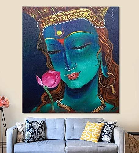 Puzzle 1000 Piezas Retrato de Dios Krishna Puzzle 1000 Piezas Adultos Educativo Divertido Juego Familiar para niños adultos50x75cm(20x30inch)