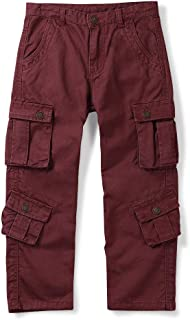 Mesinsefra Boys' Military Cargo Pants,Kids Cotton Multi Pocket Casual Outdoor Trousers