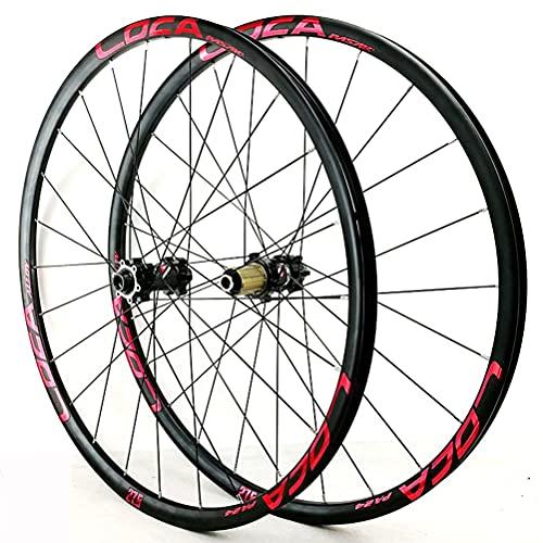 Zatnec Ciclismo Ruedas Rueda Bicicleta 26/27.5/29 Pulgadas Montaña Freno Disco Volante Cassette 7/8/9/10/11/12 Velocidad Llantas Delantera Y Trasera Eje Pasante 1600g (Color : C, Size : 27.5inch)