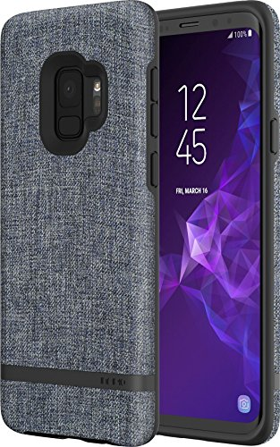Incipio [Esquire Series] Carnaby Case für Samsung Galaxy S9 - von Samsung zertifizierte Schutzhülle (blau) [Baumwollartige Oberfläche I Robuste Hartschale I Edle Optik I Hybrid] - SA-918-BLU