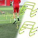 Hengmei - Juego de 6 obstáculos de coordinación para fútbol, ajustable, para entrenamiento de velocidad y agilidad