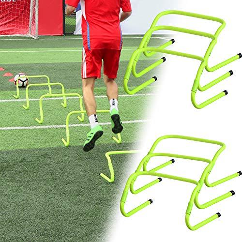 HENGMEI Koordinationshürden 6er Set Fußball Verstellbare Trainingshürden Hürdenlauf Fußball Speed/Agility Training