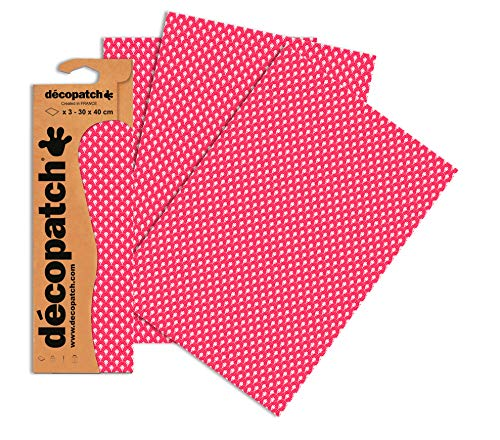 Decopatch Papier No. 660 (pink rot Regenbogen, 395 x 298 mm) 3er Pack