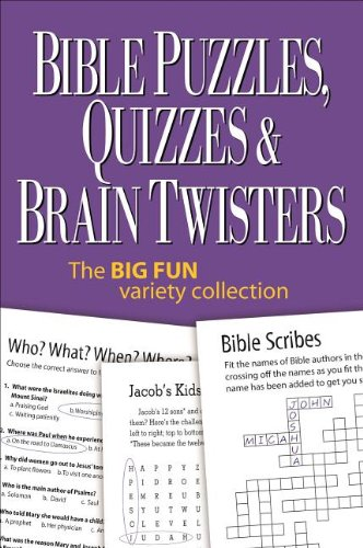 Compare Textbook Prices for Bible Puzzles, Quizzes & Brain Twisters: The Big Fun Variety Collection Spi Edition ISBN 9780989580236 by Product Concept Mfg., Inc.