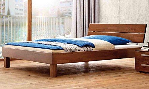 Hasena Wood-Line Premium Duetto Cantu Bett 90x200 Buche walnuss geölt