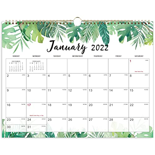 Calendario 2021-2022 - Calendario de pared 2021-2022 Planificador de julio de 2021 a diciembre de 2022, 15 'x 11,5'