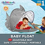 SwimSchool Sparky-The-Shark Fabric Baby Pool Float, Splash & Play Activity Center, Dual Air Pillow...