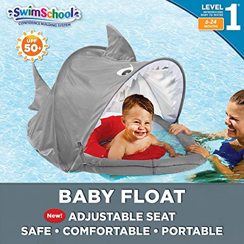 SwimSchool Sparky-The-Shark Fabric - Best Baby Pool Float