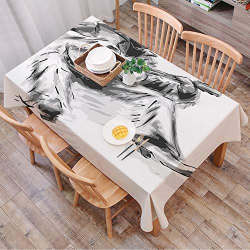Rechteck Tischdecke140 x 200 cm,Musik, Illustration eines Cowboys, der auf dem Boden sitzt und Gitarre ,Couchtisch Tischdecke Gartentischdecke, Mehrweg, Abwaschbar Küchentischabdeckung für Speisetisch