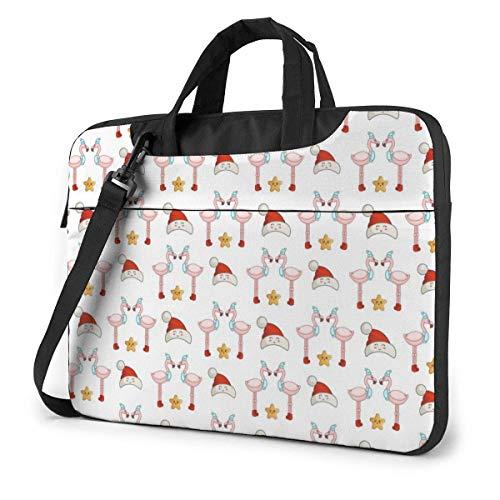 Cute Christmas Flam-ingo Cute Laptop Case Laptop Shoulder Messenger Bag Manga para 13 a 15.6 Pulgadas