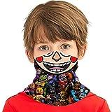 Fnaf Balloon Boy Kids Neck Gaiter Face Covering Boys Girls Bandanas Mouth Cloth Cover Balaclavs Tube Headband For Dust Sun Protection