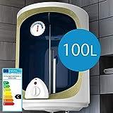 Chauffe-Eau Électrique - Réservoir avec Capacité de 100 Litres, Puissance 1500W, Thermostat à 75 ° C - Ballon d'Eau Chaude, Chaudière Électrique