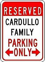 エンジニアグレードティンサインCardullo家族駐車場-ティンウォールサイン警告サインメタルプラークポスター鉄絵画アート装飾バーホテルオフィスベッドルームガーデン
