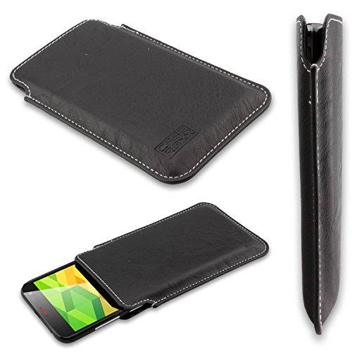 caseroxx Business-Line Etui für Ulefone Be X, Tasche (Business-Line Etui in schwarz)