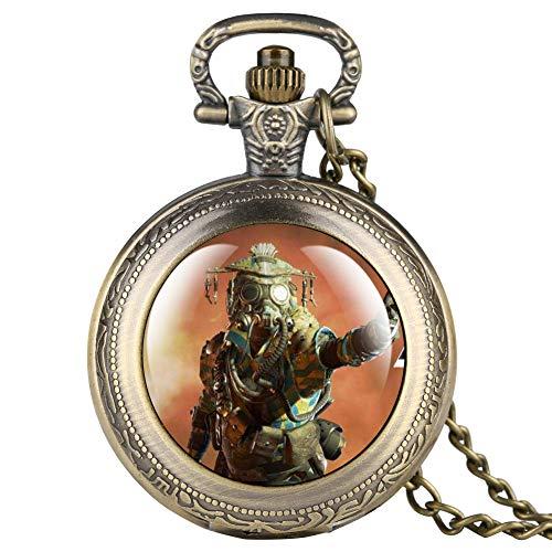 Apex Online Games Series - Reloj de bolsillo para hombre, diseño clásico árabe digital