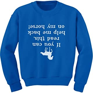 Tstars - Help Me Back On My Horse Funny Gift Youth Kids Sweatshirt
