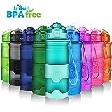 ZORRI Sports Water Bottle Leak Proof, BPA Free Reusable Portable Sports Bottle for Outdoors,...