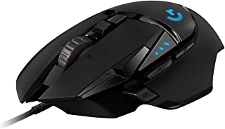 Logitech G502 HERO High Performance Wired Gaming Mouse, HERO 16K Sensor, 16,000 DPI, RGB, Adjustable Weights, 11 Programmable Buttons, On-Board Memory, PC / Mac - Black