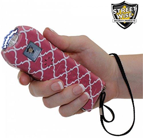 StreetWise Ladies Choice 21 Million Volt Rechargeable Stun Gun with Alarm and Flashlight, Pink Stripe (2)