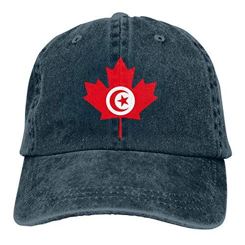 Strapback Cap Bandera De Túnez Canadá Hoja De Arce Vaquero Clásico Sombreros De Béisbol para Mujer Regalo Protección Solar Único Vintage Hombres Deportes Al Aire Libre Gorras De Hi