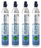 Soda Zylinder/60 Liter Premium CO2-Kartusche für Wassersprudler z.B. Soda Stream/gefüllt mit 425g Kohlensäure (4 Stück)
