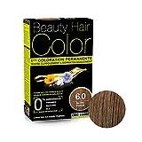 Coloration Cheveux Permanente   Kit Complet + Sérum 30ml   Aux Extraits Végétaux - 1er Couleur Naturelle - Test Clinique & Dermatologique Couvre 100% Cheveux Blancs Eric Favre (Blond foncé 6.0)