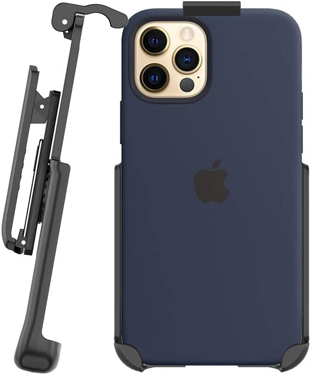 BELTRON Belt Clip Holster Compatible with Apple Silicone Case for iPhone 12 Pro Max with MagSafe - Features: Built in Kickstand (Holster Only, Case is NOT Included)