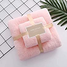 High Quality Microfiber Fabric Coral Fleece Super Absorbent Ultra Soft Luxury Velvet Touch Bath Towel Set Package Contain ...