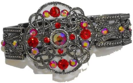 Vintage Inspired Dazzling Heirloom Cuff Bracelet