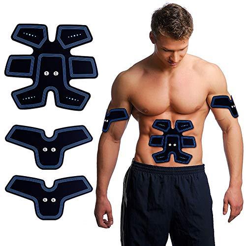 ACTOPP Elettrostimolatore Muscolare Trainer EMS Tonificante Cintura Addominale Portatile per Addome Gambe Braccio Vita Ricaricabile con Cavo USB 25 Intensità 10 Intensità con Pile Senza Fili