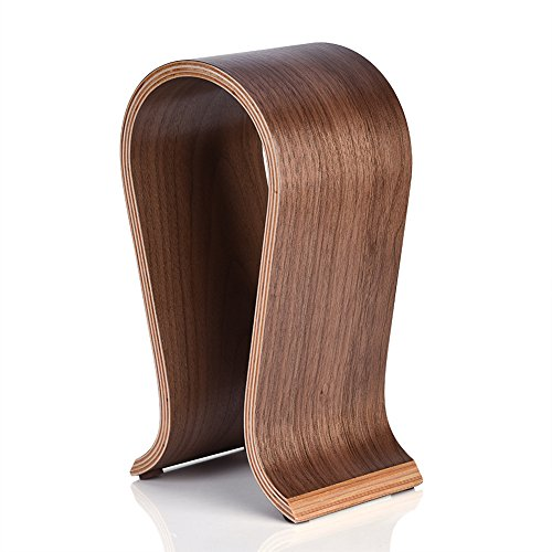Kopfhörer Ständer, Kopfhörerhalter Holz Halterung Walnussholz Gaming Headset Halter Aufhänger U-Form Hanger für Zuhause, Büro, Studie, Shop oder TV-Gerät