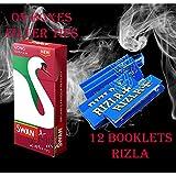 600 papeles de liar RIZLA RED y 400 puntas de filtro extra delgadas de SWAN largas