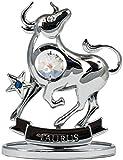 Sternzeichen Stier Figur mit Kristallen silberfarben Made with Swarovski Elements