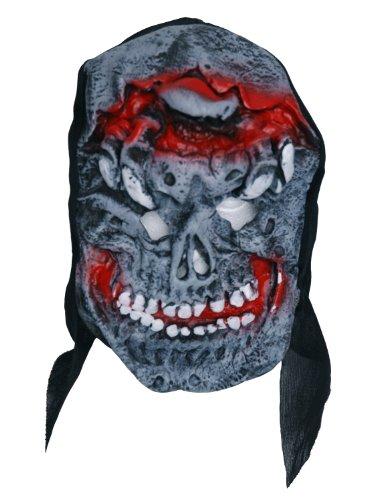 Zombie caoutchouc gris masque visage-ROUGE
